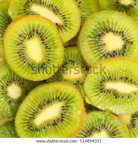 Healthy food background. Fresh Tasty Kiwi - stock photo