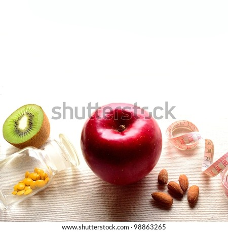 Healthy food for diet - stock photo