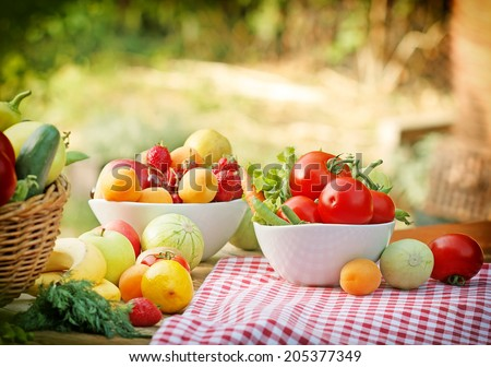 Healthy food for healthy leaving - stock photo
