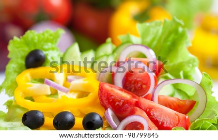 healthy food fresh vegetable salad - stock photo