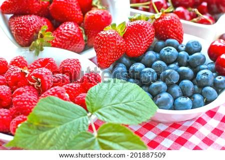 Healthy food - strong antioxidants - stock photo
