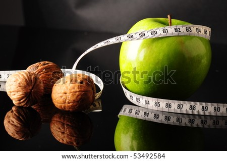 healthy food to be fit - stock photo