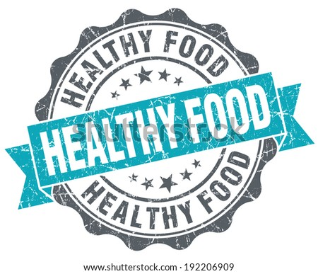Healthy food turquoise grunge retro vintage isolated seal - stock photo