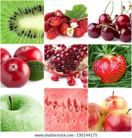 Healthy fresh fruits - stock photo