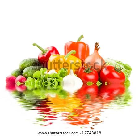 Healthy fresh vegetables - stock photo