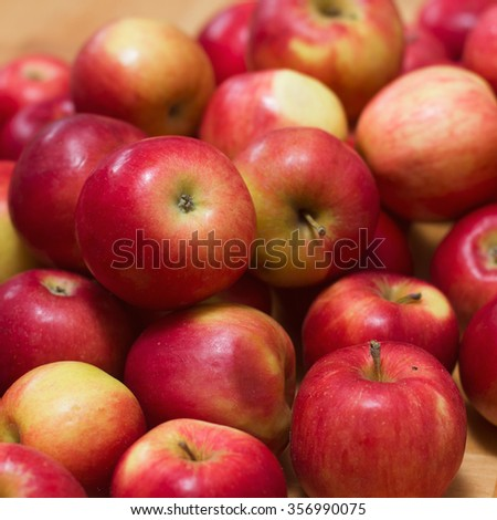 Healthy Fruit, group of Organic red Apples - stock photo