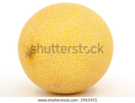 Healthy fruit melon, isolated on white - stock photo