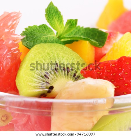 Healthy fruit salad mix - stock photo