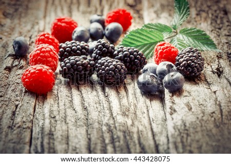 Healthy fruit - seasonal berry fruits - stock photo