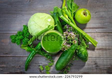 Healthy green juice  - stock photo