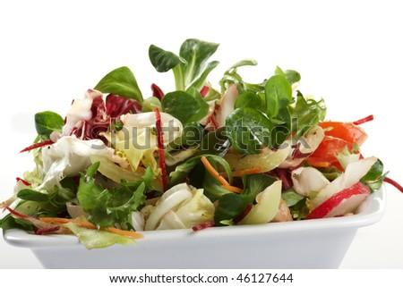Healthy green salad - stock photo