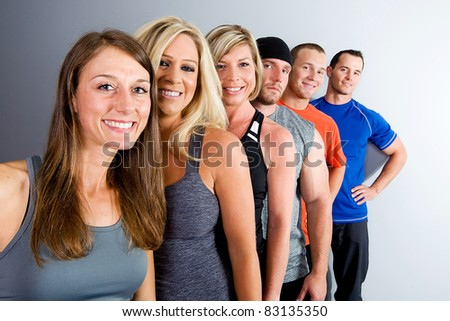 Healthy Group of friends - stock photo