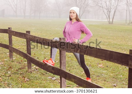 Healthy Lifestyle Activity, fitness woman outdoor exercise