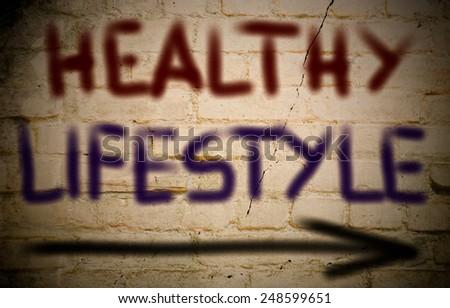 Healthy Lifestyle Concept - stock photo