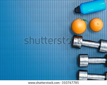 healthy lifestyle concept illustration - stock photo