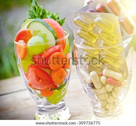 Healthy lifestyle - healthy diet - stock photo