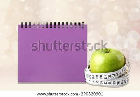 Healthy Lifestyle, Healthy Eating, Tape Measure. - stock photo