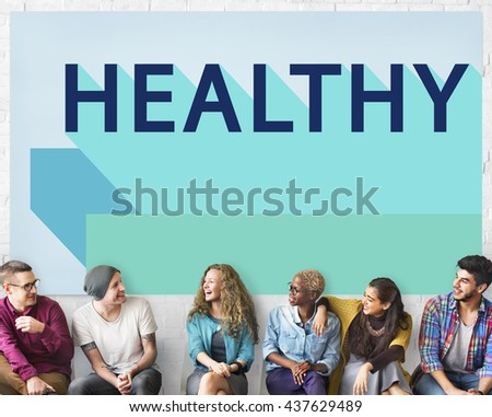 Healthy Lifestyle Nutrition Vitality Wellness Active Concept - stock photo