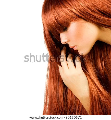 Healthy long Hair - stock photo
