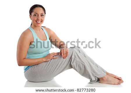 Healthy Looking Happy Plus Size Young Female Ready Workout