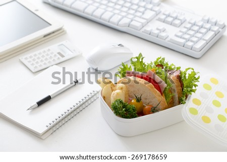 Healthy lunch of Tegoto chestnut - stock photo