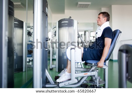 Healthy man in a sport center