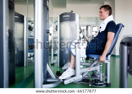 Healthy man in a sport center - stock photo