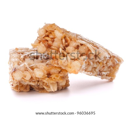 Healthy munchies isolated on white background - stock photo