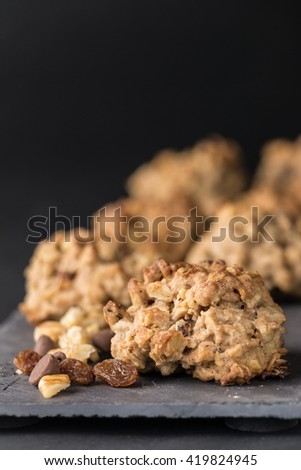 Healthy Oatmeal Cookies Dark