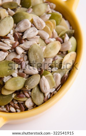Healthy oil seeds for a healthy snack. - stock photo