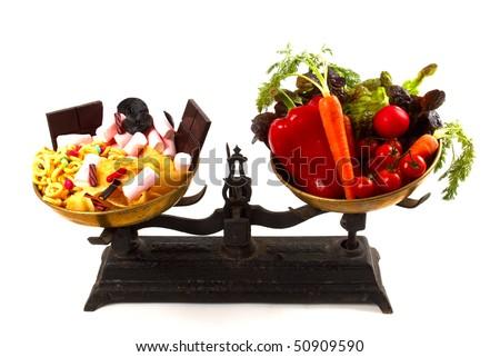 Healthy or unhealthy? - stock photo