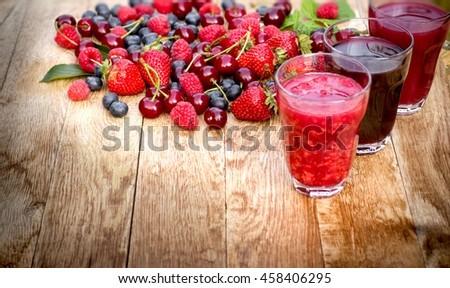 Healthy organic forest fruits - berry fruits