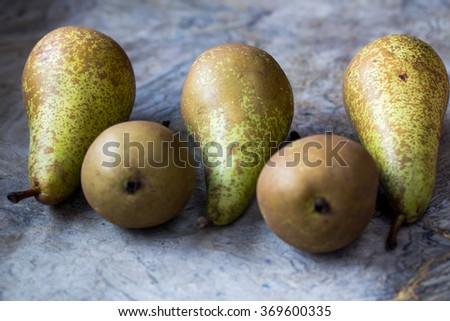Healthy Organic Pears - stock photo