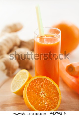 Healthy refreshing juice - stock photo
