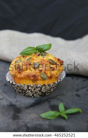 Healthy Roasted Pumpkin and Parmesan Savory Muffin