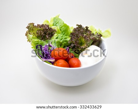 Healthy Salad on white background