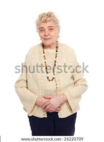 healthy senior woman smiling