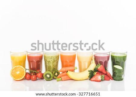 Healthy smoothie - stock photo