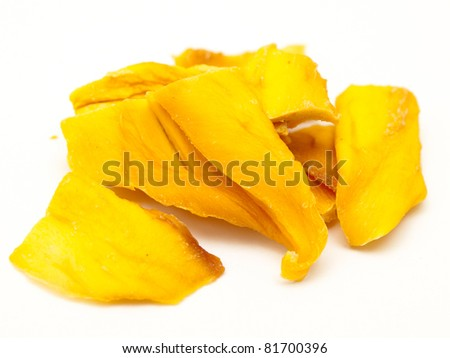 healthy snack - dried mango - stock photo