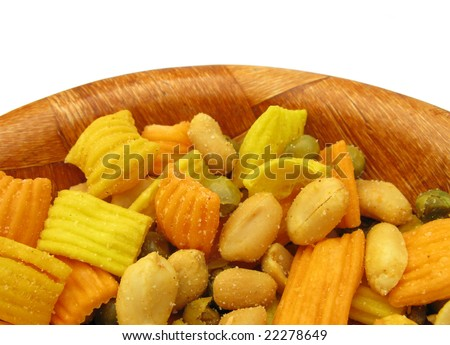 Healthy snack food - stock photo