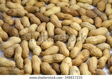 healthy tasty nourishing peanuts isolated on white background
