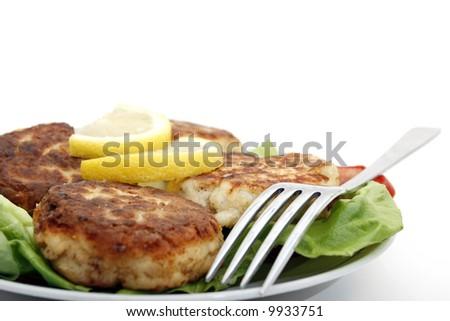 Healthy tuna cakes - stock photo
