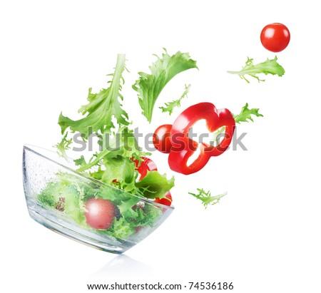 Healthy Vegetable Salad - stock photo