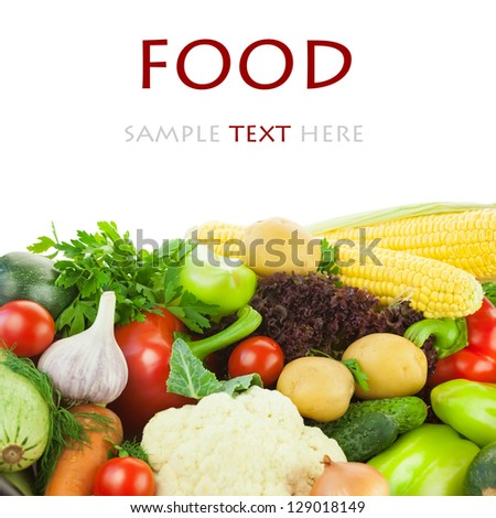 Healthy Vegetables / Big Assortment / with copy space