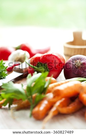 healthy vegetarian diet - stock photo