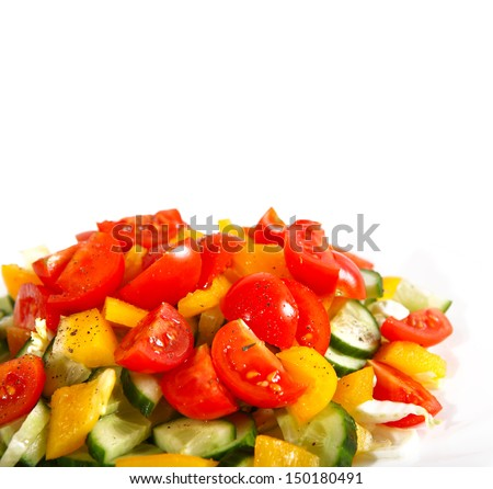 Healthy vegetarian salad isolated  - stock photo
