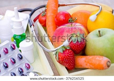 Healthy way of life depends on your diet - stock photo