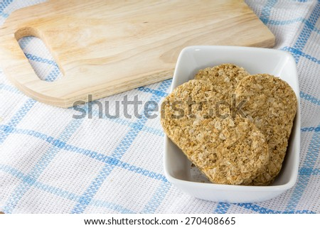 Healthy Whole Wheat Shredded Cereal for Breakfast - stock photo