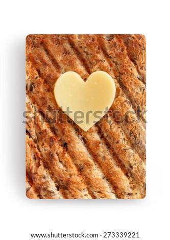 Healthy wholegrain toast slice  - stock photo