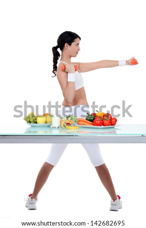 Healthy woman - stock photo